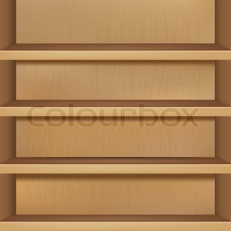 Wooden Empty Bookshelf