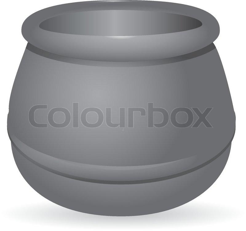 Gusseisen Kessel | Vektorgrafik | Colourbox