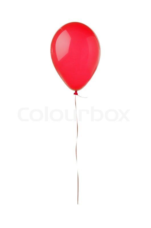 roten fliegenden ballon isoliert auf weiss stockfoto colourbox. Black Bedroom Furniture Sets. Home Design Ideas