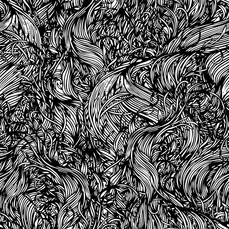 Vector Seamless Black And White Abstract Hand Drawn
