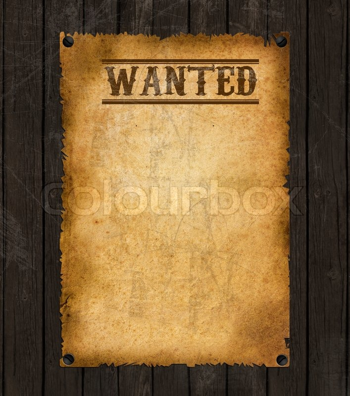 Colourbox  Free Wanted Poster Template Download