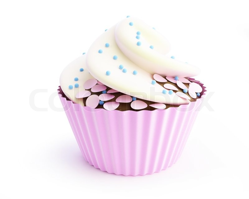 cupcakes 3d on a white background stock image colourbox cupcakes 3d on a white background