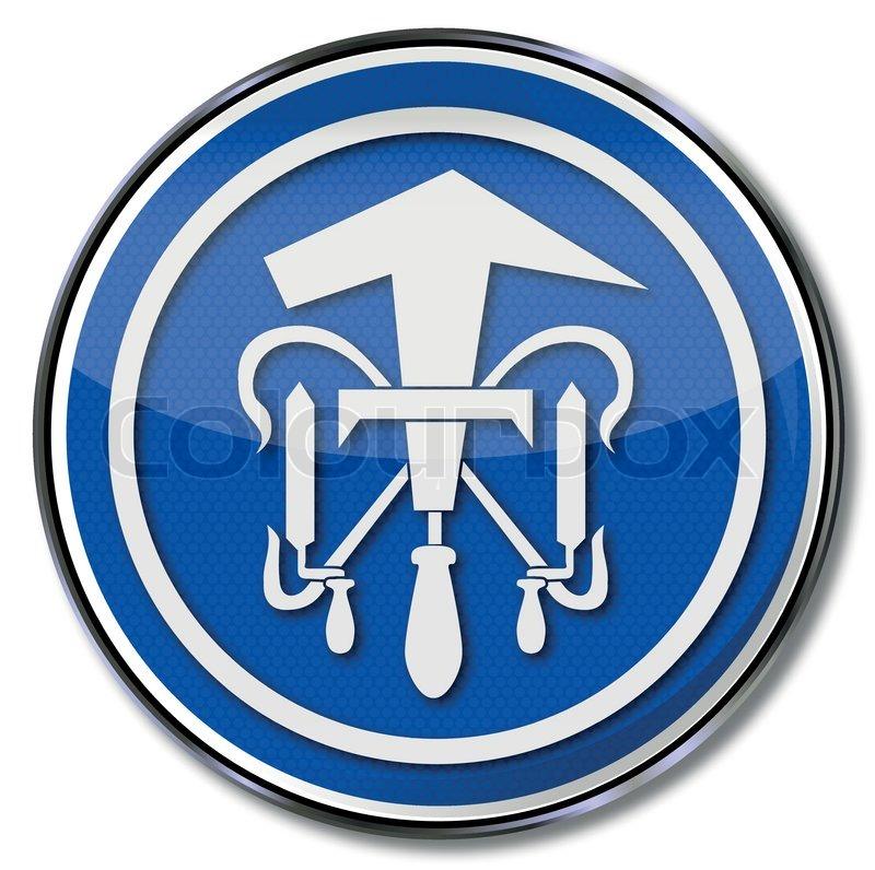 Dachdecker symbol  Zunftzeichen Dachdecker | Vektorgrafik | Colourbox