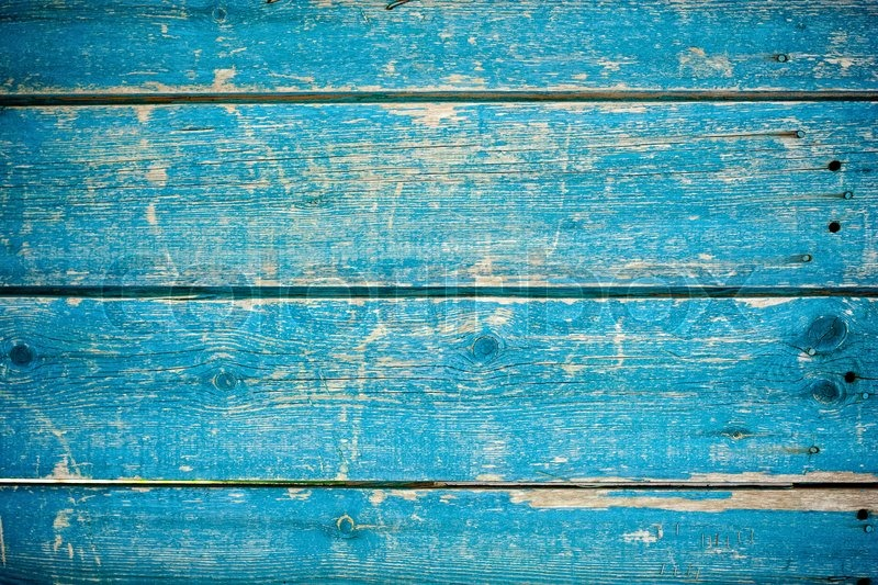 Painted Washed Fence Blue