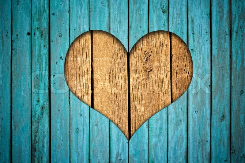 Wooden Fence With Heart Stock Photo Colourbox