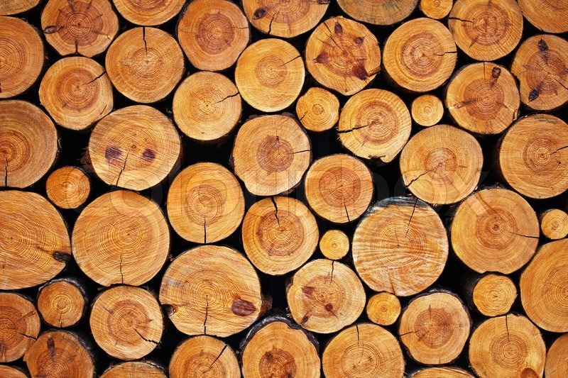 Wood logs background stock photo colourbox