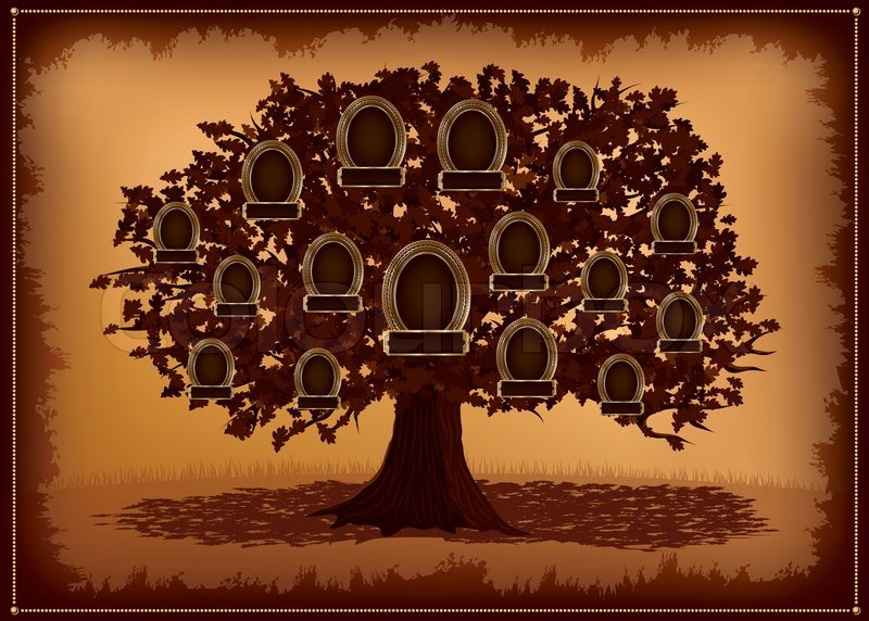 Family tree background with place for text. Vector illustration ...