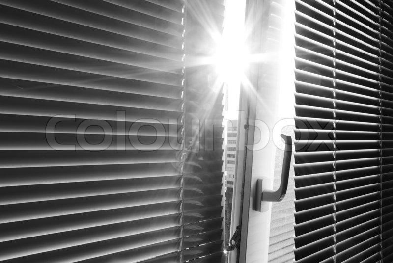 Sun through the window, stock photo