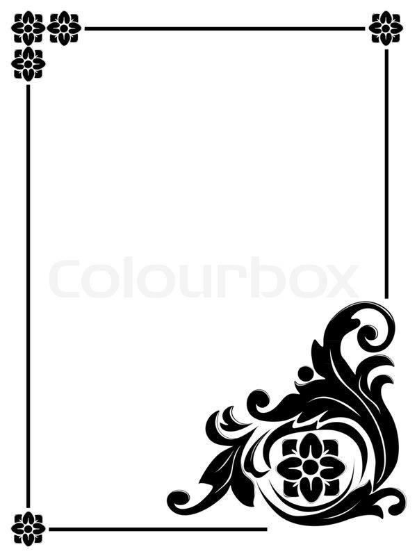Vintage design frame for greeting card, invitation, menu. Space for ...