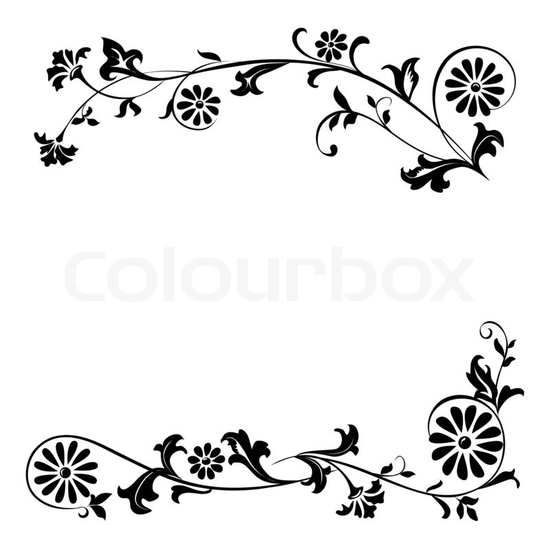 elements for design flowers and ornaments floral stock photo