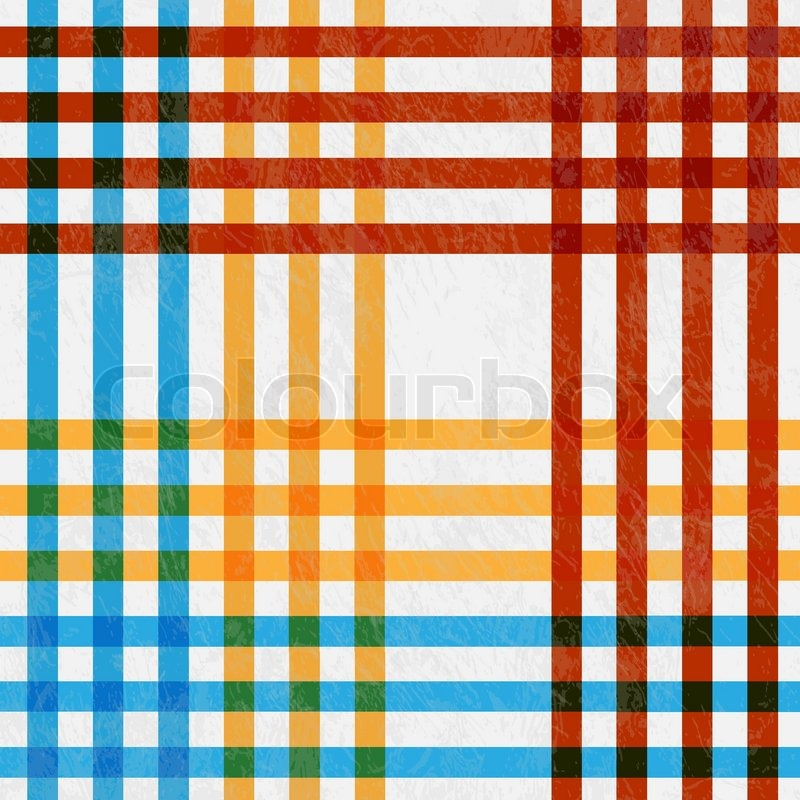 Tablecloth, Red And Blue, Yellow Lines   Vector Illustration Retro Tablecloth  Texture | Stock Vector | Colourbox