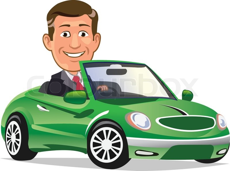 Cartoons Driving Cars Cartoon of Rich Man Driving