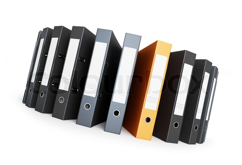 Folder on a circle office folders | Stock Photo | Colourbox
