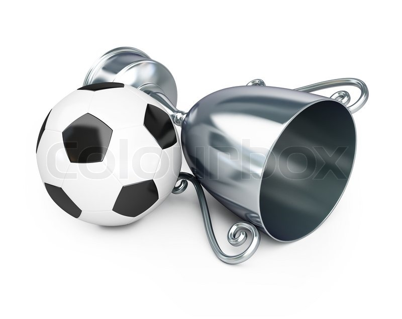 Stock image of 'Trophy silver cup football'