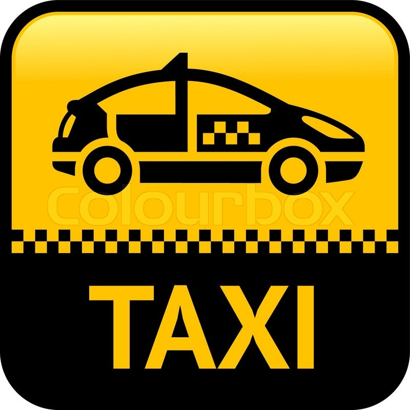 Taxi cab button, vector icon | Stock vector | Colourbox