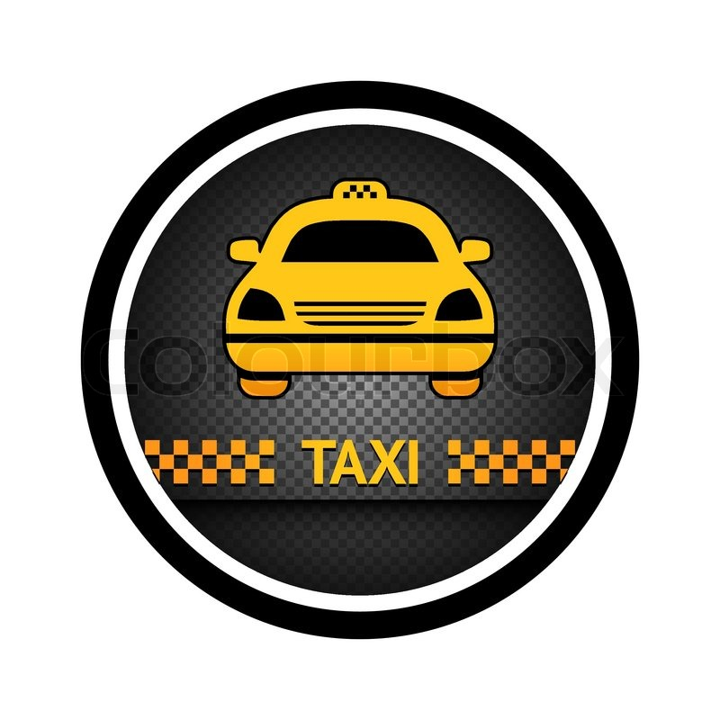 taxi cab button vector icon stock vector colourbox. Black Bedroom Furniture Sets. Home Design Ideas