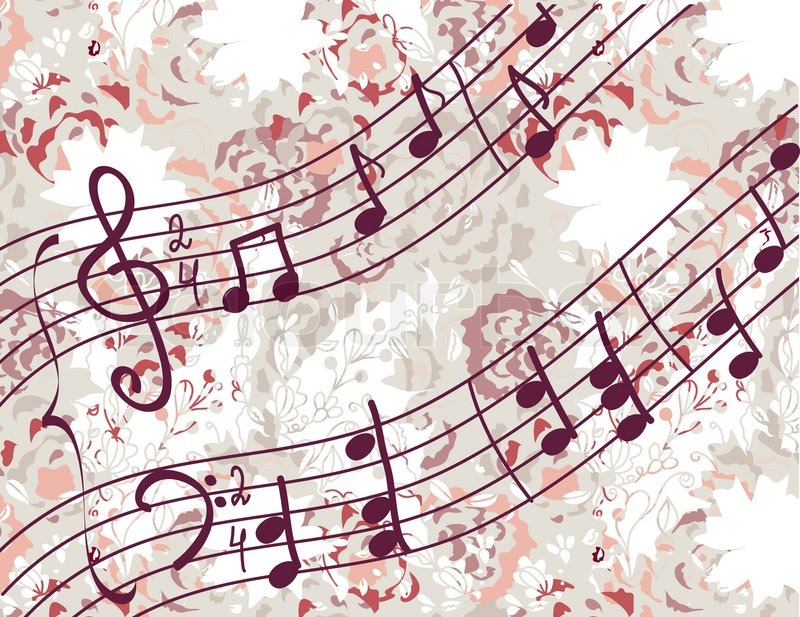 Cute Music Note Wallpaper: Musical Background With Melody