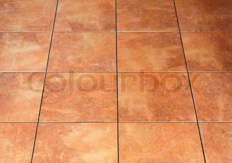 Floor Red Tile Stock Photo Colourbox