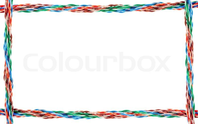 Computer cable frame | Stock Photo | Colourbox