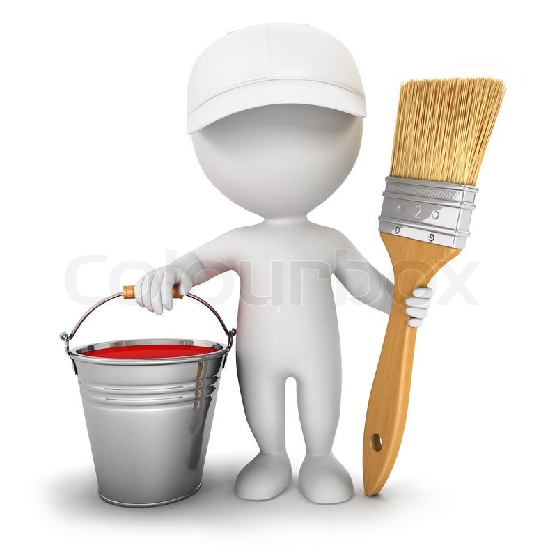 paint bucket and brush - photo #30