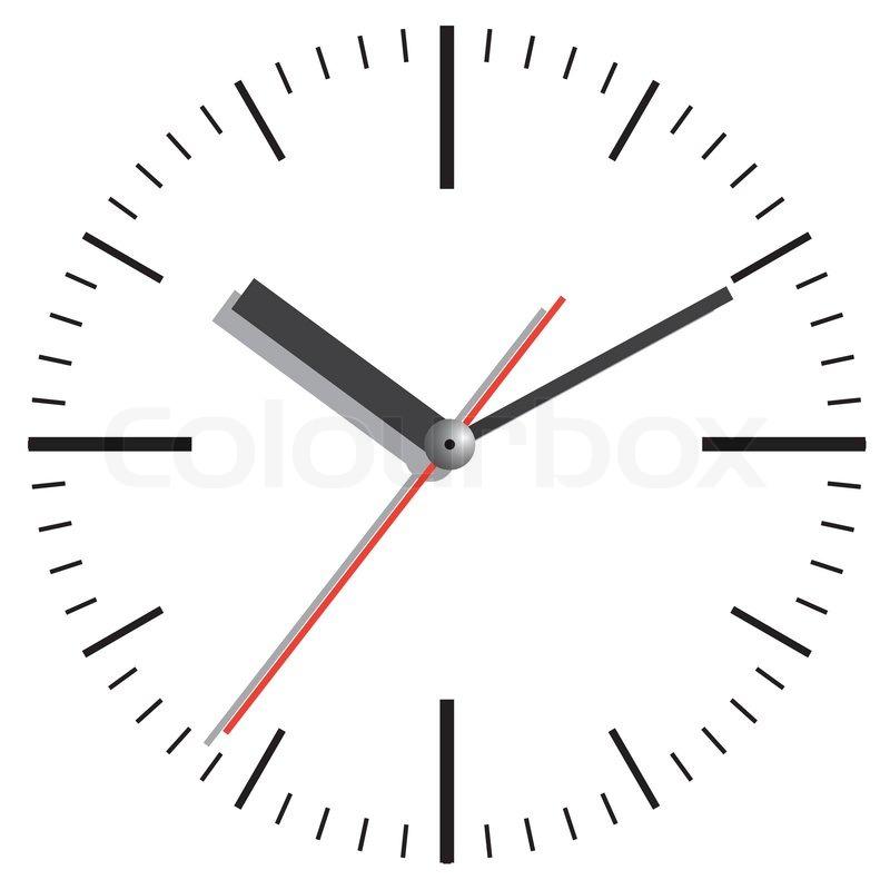 wall clock vector illustration stock vector colourbox