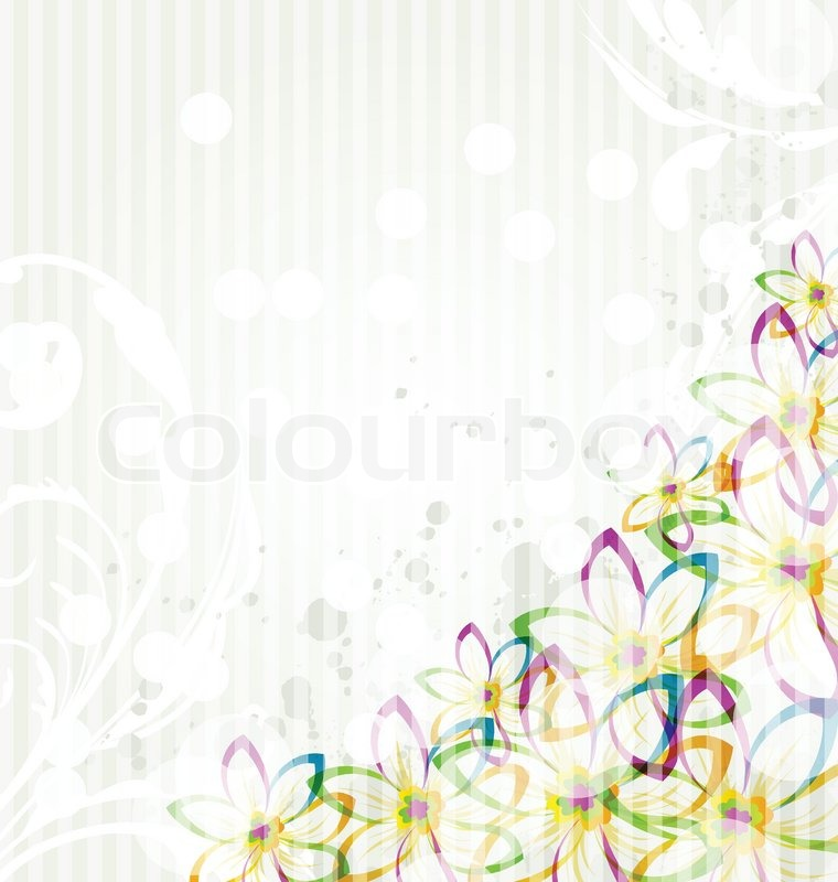 Multicolor Flowers Background With Transparency Elements