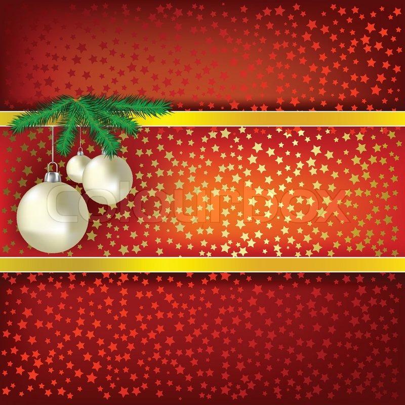weihnachts kugeln und sternen rote vektor hintergrund. Black Bedroom Furniture Sets. Home Design Ideas