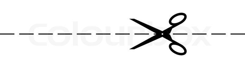 scissor and cut mark stock vector colourbox