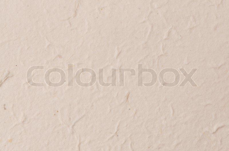 Cream Textured Paper Stock Photo