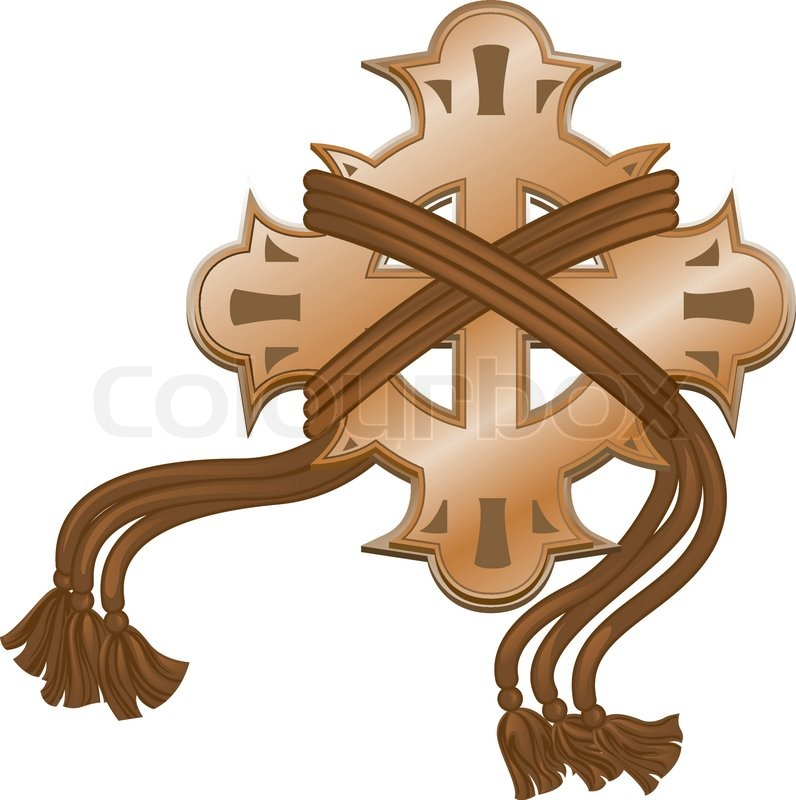 Decorative cross with cords | Stock Vector | Colourbox