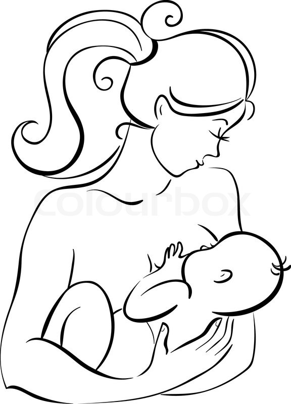 Parent And Child Coloring Page