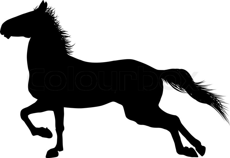 vector horse stock vector colourbox rh colourbox com vector horse head silhouette vector horseshoe