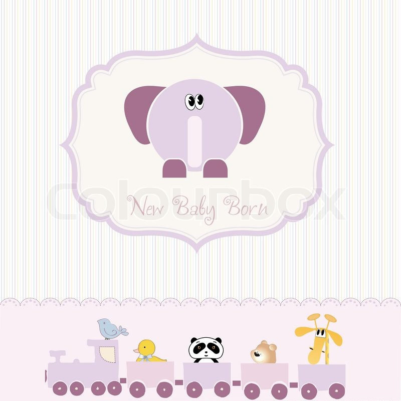 Baby Shower Wiki: Baby Shower Card With Elephant