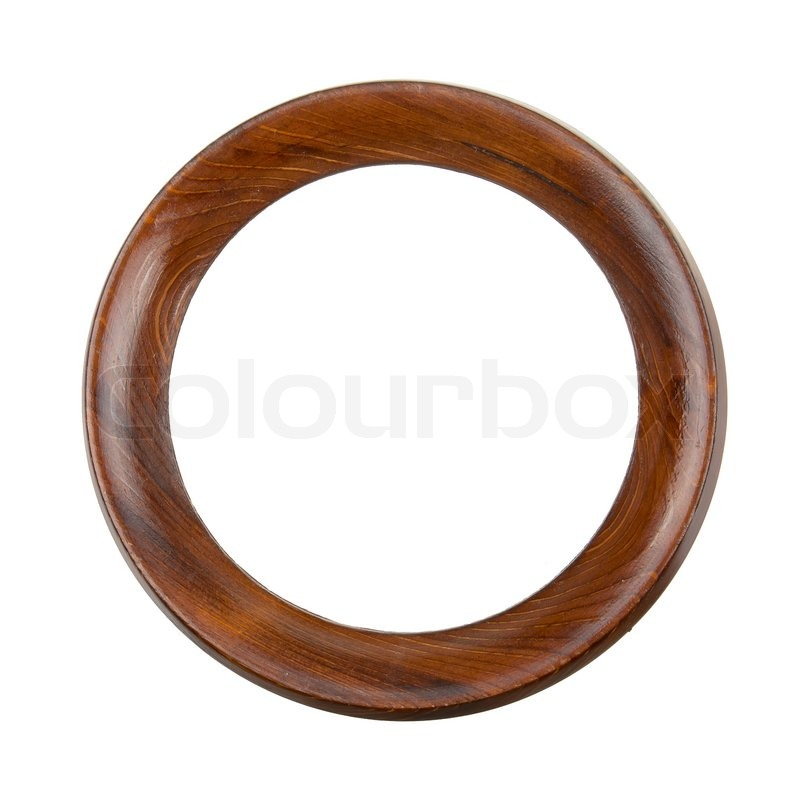 Round wooden frame | Stock image | Colourbox