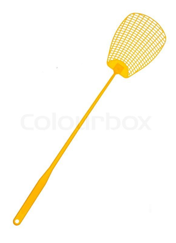 Gelbe fliegenklatsche stockfoto colourbox for Fliegen in blumenerde vernichten