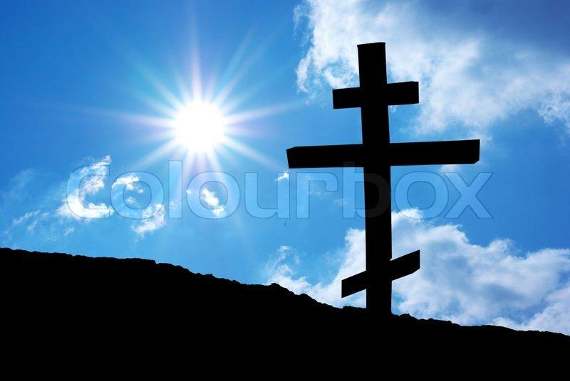 Religion cross, stock photo
