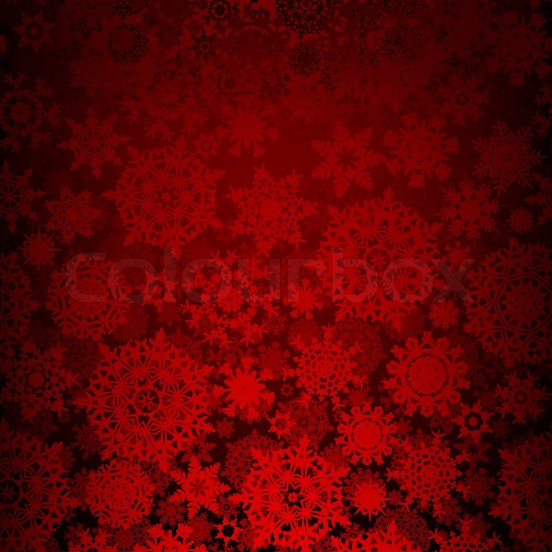 Seamless Deep Red Christmas Texture EPS 8 Stock Vector