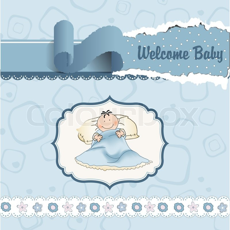 Welcome New Baby Boy Stock Vector Colourbox