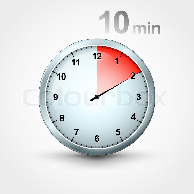 timer 10 minutes stock vector colourbox