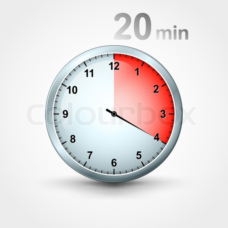 timer 20 minutes stock vector colourbox