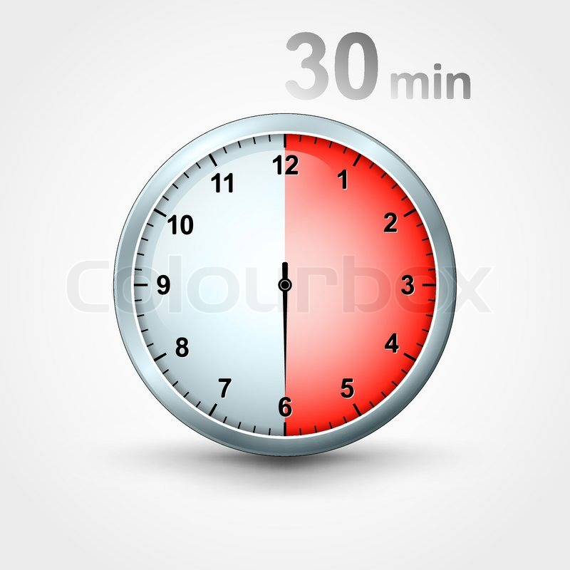timer 30 minutes stock vector colourbox. Black Bedroom Furniture Sets. Home Design Ideas