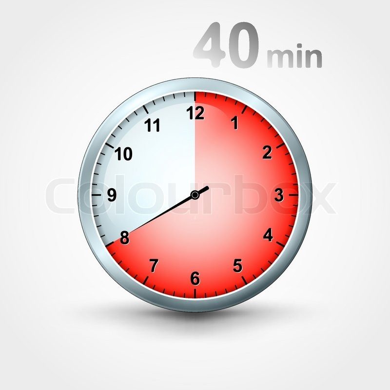 Timer 40 Minutes Stock Vector Colourbox