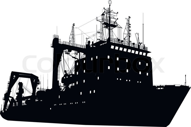 Ship silhouette | Stock Vector | Colourbox