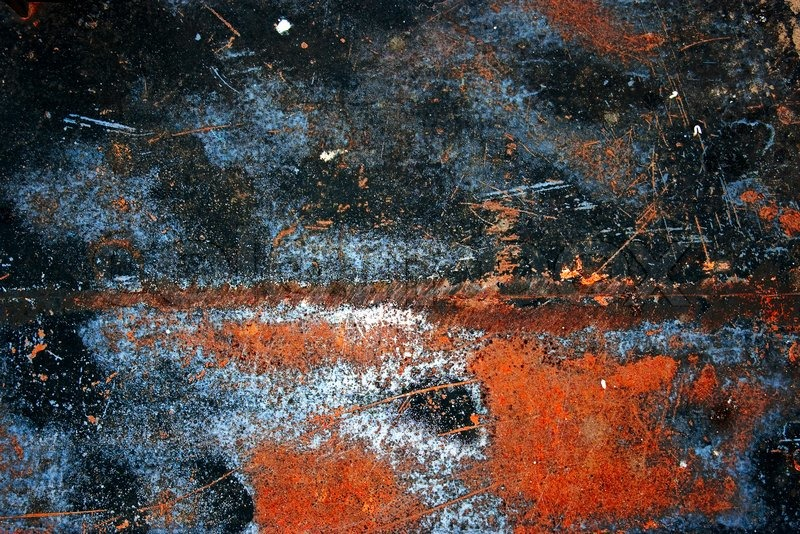 Colorful Grunge Background Of Rusty Iron Surface With