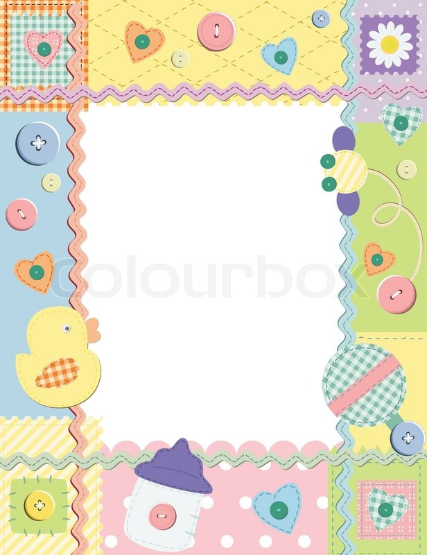 baby frame or card vector illustration vector colourbox