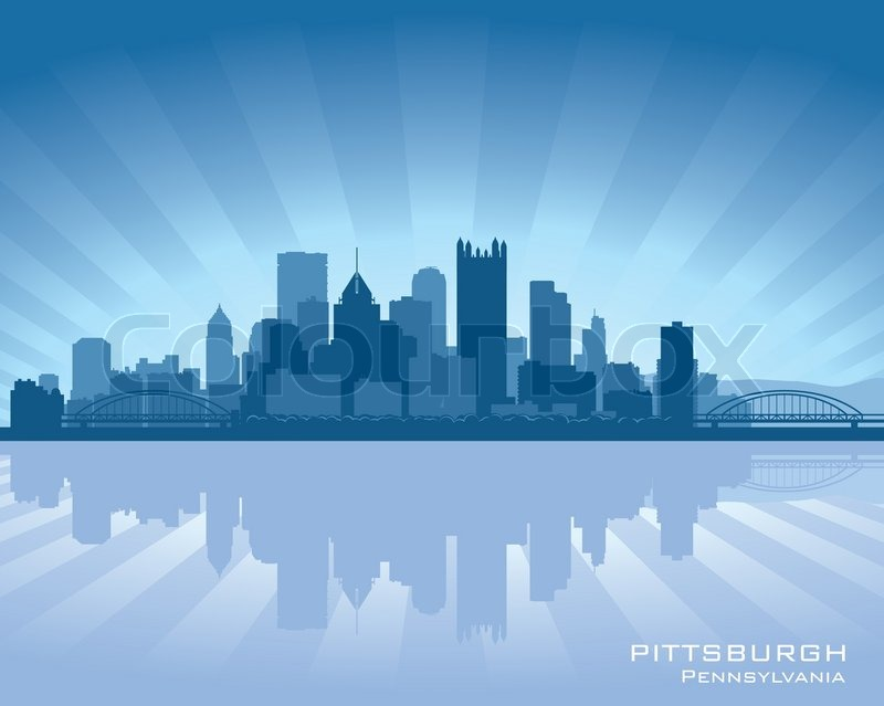 Stock vector of 'Pittsburgh, Pennsylvania skyline'