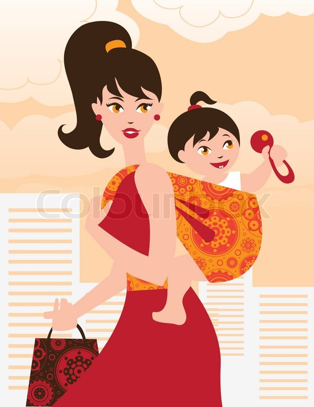 Mom And Baby Girl Cartoon Images Ardusat Org