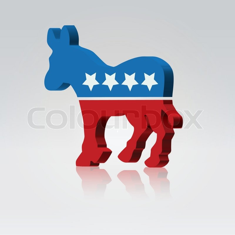 Editorial vector of 'Mule symbol american vote campaign'