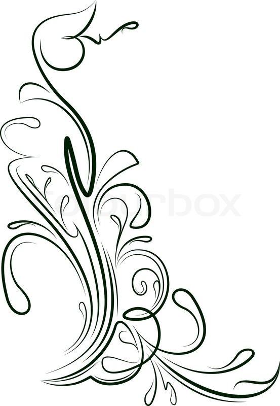 Stock Vector Of Elegant Vine Corner Flower Borders