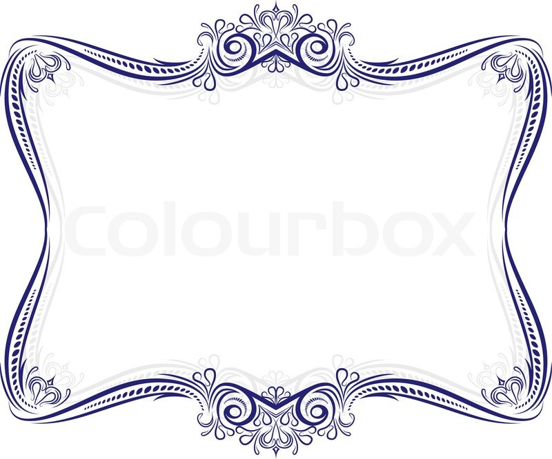 Decorative frame with shadow | Stock Vector | Colourbox